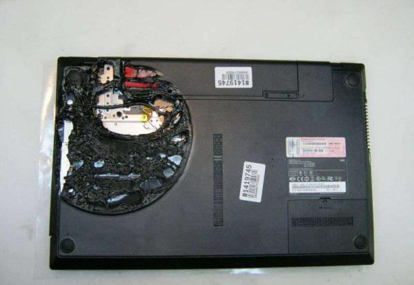 зажареный ноутбук